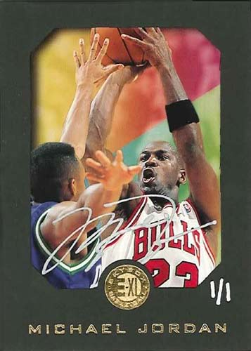 95-96 Michael Jordan E-XL Buy Back Autograph