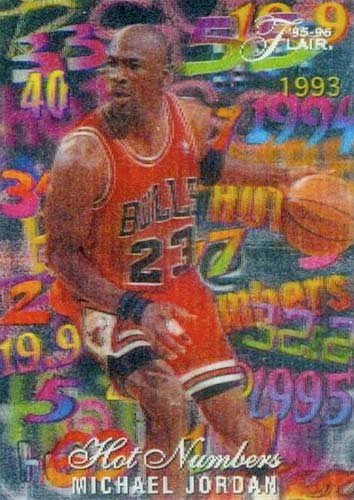 95-96 Michael Jordan Flair Hot Numbers