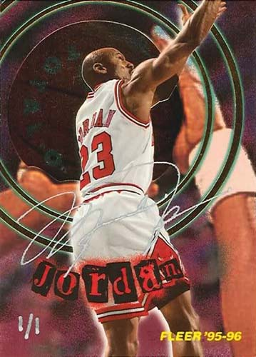 95-96 Michael Jordan Fleer Total O Buy Back Autograph