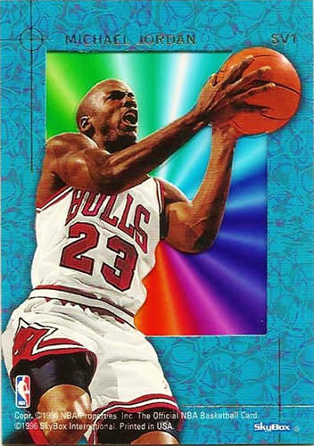 95-96 Michael Jordan Skyview back