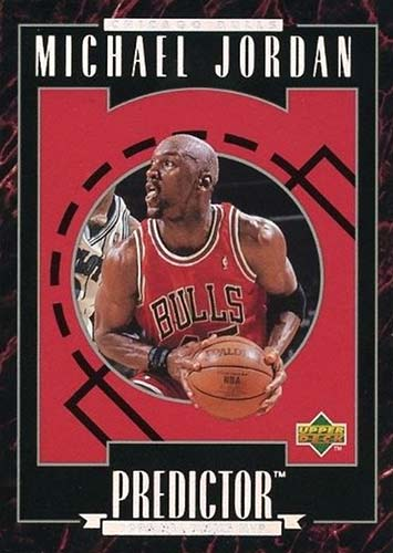 95-96 Michael Jordan Upper Deck Predictor