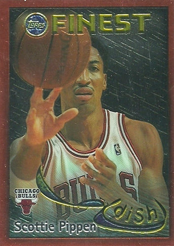 95-96 Scottie Pippen Topps Finest Dish and Swish