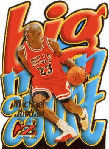 96-97 Michael Jordan Big Men On Court Skybox Z-Force