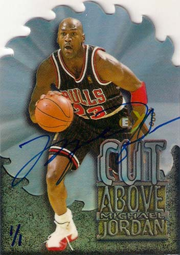 96-97 Michael Jordan E-X2000 A Cut Above Buy Back Autograph