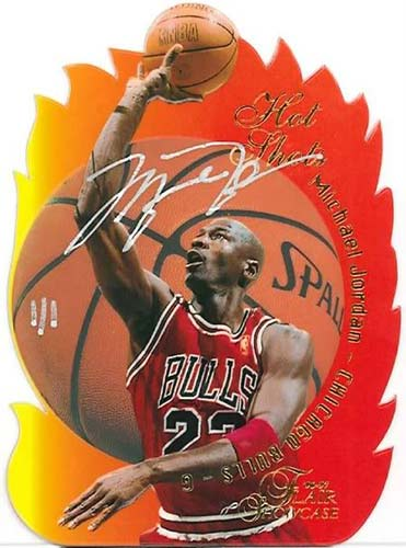 96-97 Michael Jordan Flair Showcase Hot Shots Buy Back Autograph