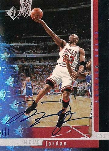 96-97 Michael Jordan SP Buy Back Autograph