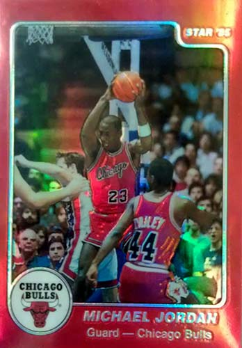 96-97 Michael Jordan Topps Stadium Club Finest Star Co XRC Reprint Refractor