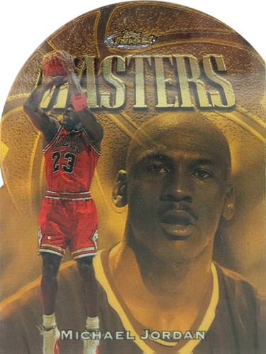 97-98 Michael Jordan Topps Finest Embossed Die Cut Gold Masters