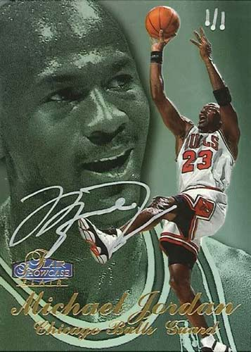 97-98 Michael Jordan Flair Showcase Buy Back Autograph