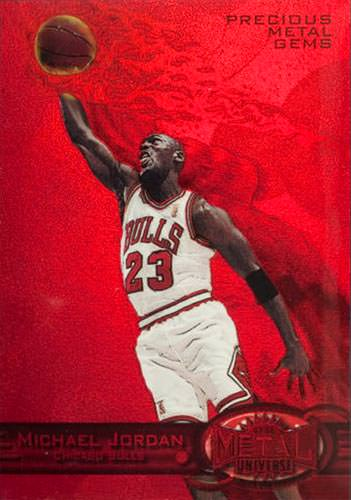 97-98 Michael Jordan PMG Red Metal Universe