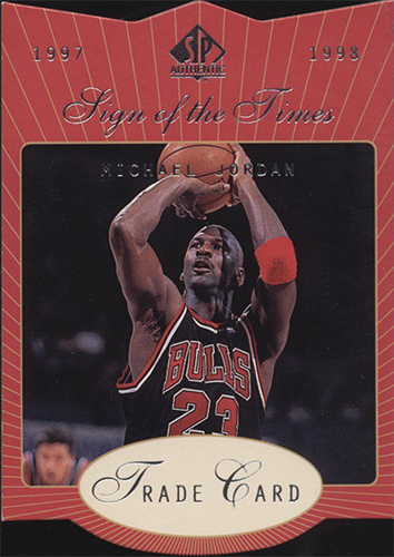 97-98 Michael Jordan Sign of the Times Trade Card