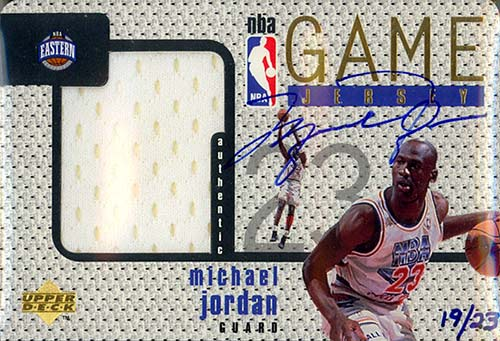 97-98 Michael Jordan Upper Deck Game Jerseys Autograph