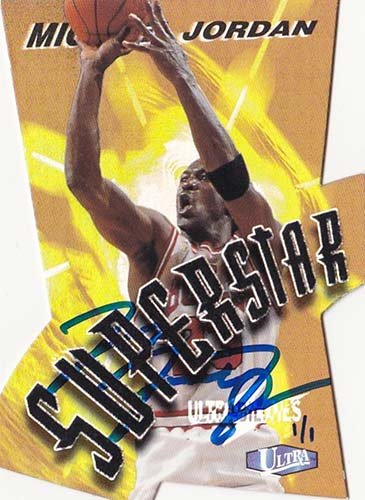 97 Michael Jordan Fleer Ultra Ultrabilities Superstar Buy Back Autograph