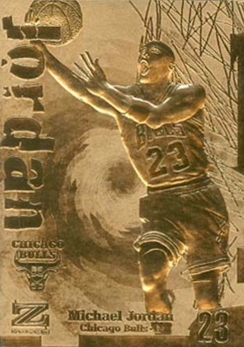 97 Michael Jordan Skybox Z-Force 23kt Gold
