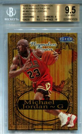 98-99 Michael Jordan Fleer Playmakers Theater Nat Turner