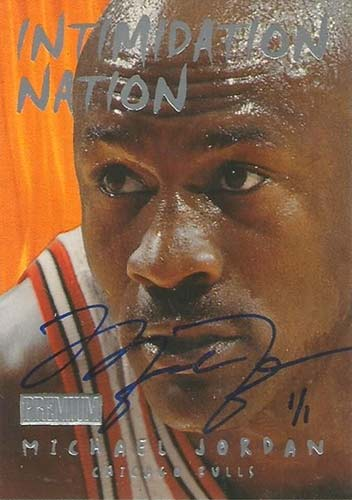98-99 Michael Jordan Skybox Intimidation Nation Buy Back Autograph