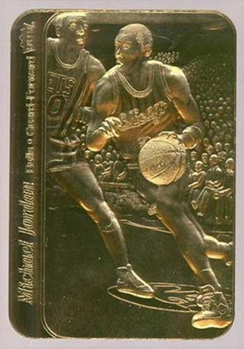 98 Michael Jordan Fleer Sticker Reprint 23kt Gold