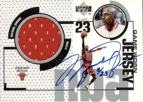 98 Michael Jordan Upper Deck Game Jersey Autograph