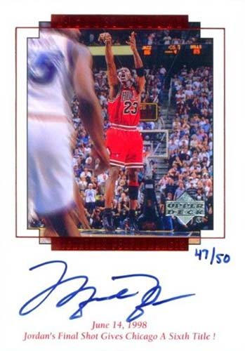 99-00 Michael Jordan Upper Deck MJ Master Collection Final Shot