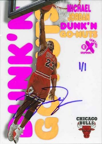 99 Michael Jordan EX Century Dunk 'n Go-Nuts Buy Back Autograph
