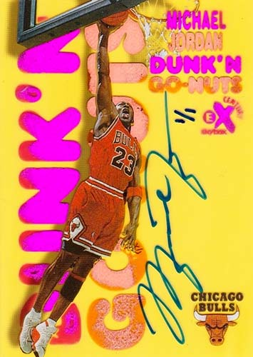 99 Michael Jordan EX Century Dunk 'n Go-Nuts Gold Buy Back Autograph